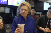 Hillary Clinton tries 'bubble tea' in NYC