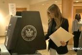 Melania Trump votes in New York primary