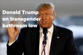 Donald Trump on NC transgender bathroom law