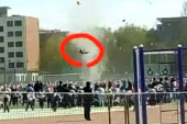 Dust devil sweeps schoolboy high into the air