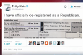 Reports: Some GOP voters destroy voter reg...