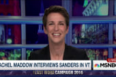 Maddow reacts to her interview with Sanders