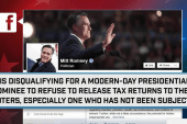 Romney: 'Disqualifying' not to release taxes