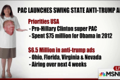 Pro-Clinton PAC bashes Trump in swing states