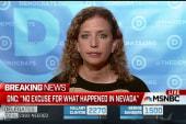 NV Sanders uproar 'unacceptable': DNC chair