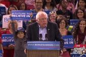 Bernie Sanders holds primary night rally