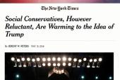 Social conservatives still warming to Trump