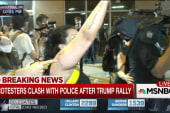 Protestor: 'We don't want Trump here'