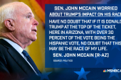 Sen. McCain worried about Trump's impact...