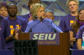 Clinton rips Trump over casino business