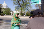 Woman rallies for the GOP Muslim vote