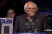 Sanders addresses voters on primary night