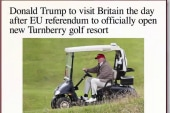 Trump draws a blank on 'Brexit' meaning