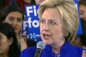 Clinton targets Trump with foreign policy...