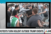 New level of violence at anti-Trump protests