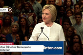 Clinton speaks after clinching nomination