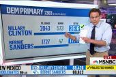 Clinton clears pledged delegate majority