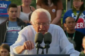 Sanders campaign pushes through race