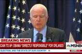 McCain: Obama responsible for Orlando...