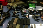 Three to face trial on weapon cache