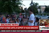 Democratic sit-in draws protesters outside