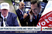 Trump on Brexit: It's good for my golf course