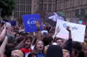 Anti-Brexit protesters gather in London
