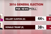 Clinton up, Trump down in latest poll