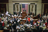 Dems continue sit-in despite House...