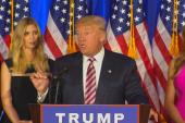 Trump Jabs Clinton on Primary Night