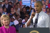 Obama Campaigns With Clinton Hours After...