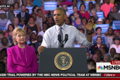 President Obama stumps for Hillary Clinton