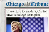 Clinton makes overture to Sanders on college