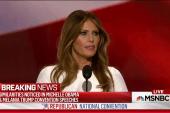 Melania Trump speech echoes unlikely source