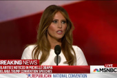 Melania Trump's speech appears to be...