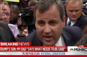 Christie warns Clinton against picking fight