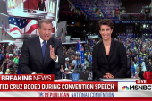 Cruz booed roundly as he skips endorsement