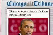 Obama settles on presidential library site