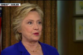 Clinton speaks out on Trump's support of...