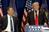 Trump, Priebus rush to make show of unity