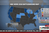 Clinton over 270 in new NBC battleground map
