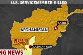 IED kills U.S. service member in Afghanistan
