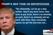 Trump modifies his stance on immigration