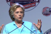 Clinton confronted with false 'truthful'...