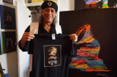 Dominican-American Artist Honors Hillary...