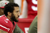 Colin Kaepernick continues anthem protest