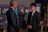 Obama tours area in Laos for bomb victims