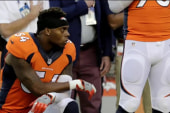 Denver Bronco takes knee during nat'l anthem