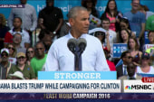 Obama slams Trump on campaign trail