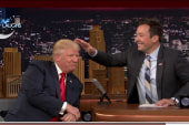 Trump lets Fallon mess up his hair